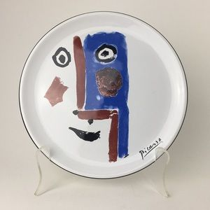 Vintage Picasso Living 'Face' Ceramic Plate